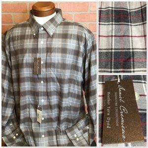 Cremieux mens flannel shirt plaid M (3H74)
